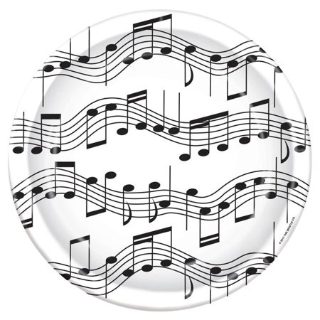 (Pack of 96) Musical Note Plates Rock and Roll Party Theme (Musical Note Cutouts)