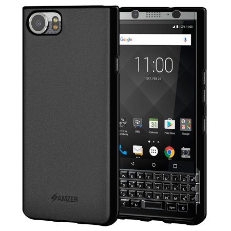 Black Screen Kit (BlackBerry KEYone Case, Premium ShockProof TPU Case Back Cover with Screen Cleaning Kit for BlackBerry KEYone - Black)