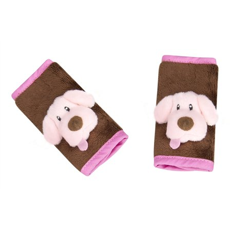 J Is For Strap Covers Puppy Pink Brown Infant Car Seat