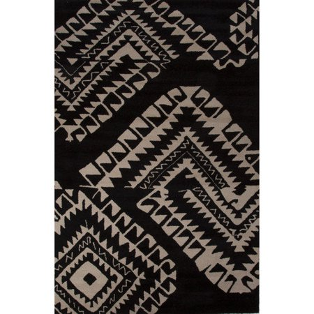 Royal Rugs Aztec Wool Hand Tufted Black White Area Rug