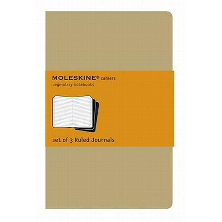 """Moleskine Cahier Journal, 5"""" x 8.25"""", Large, Ruled, Kraft Brown"""