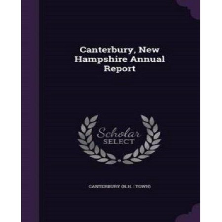 Canterbury, New Hampshire Annual Report - image 1 of 1