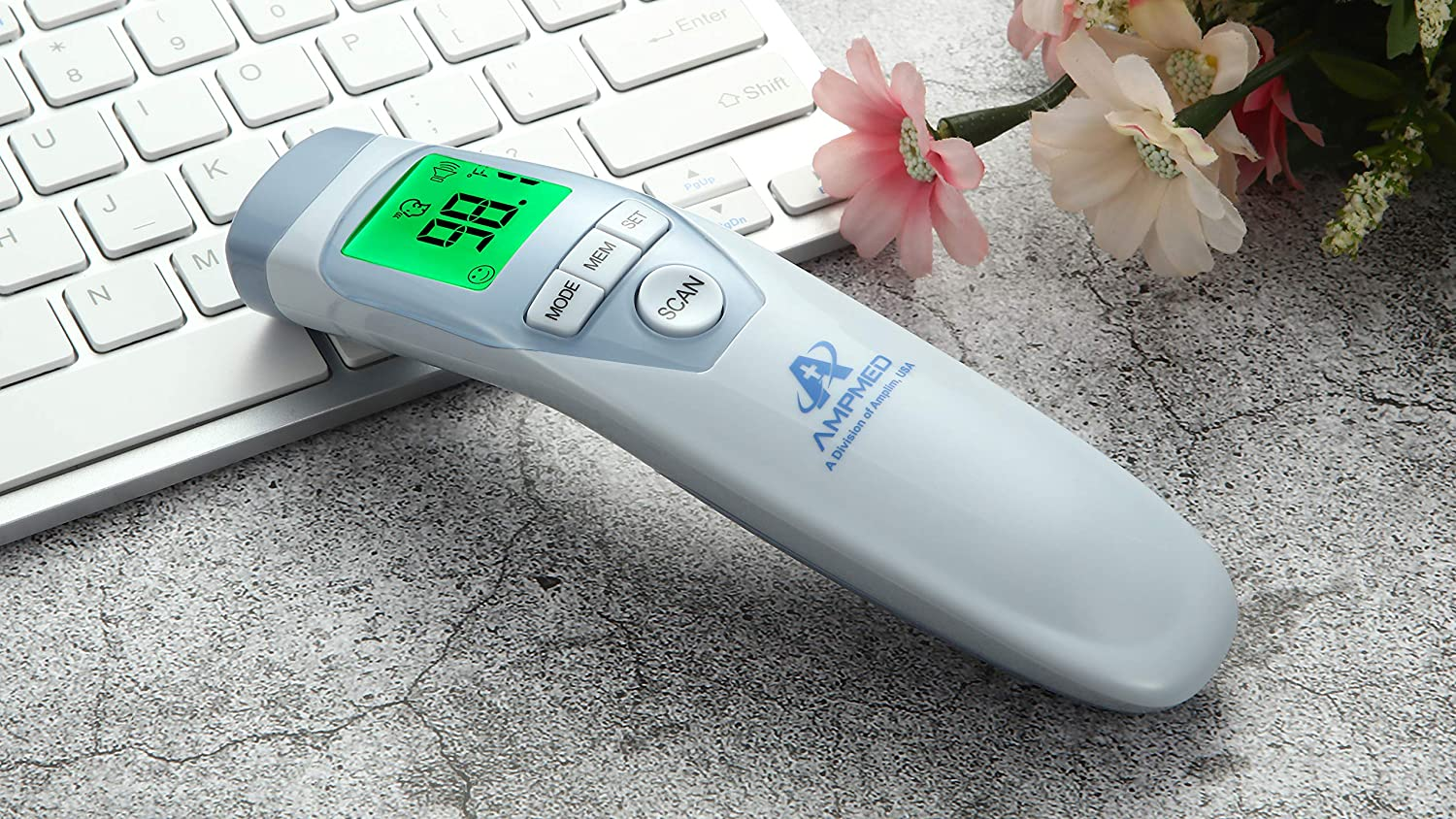 Hospital Medical Grade No Touch Fever Temperature Thermometer Amplim Non-Contact Touchless Infrared Digital Forehead Thermometer for Adults and Baby