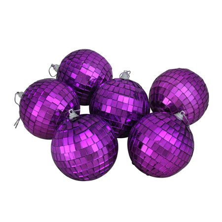 Northlight 6ct Mirrored Glass Disco Ball Christmas Ornament Set 3.25