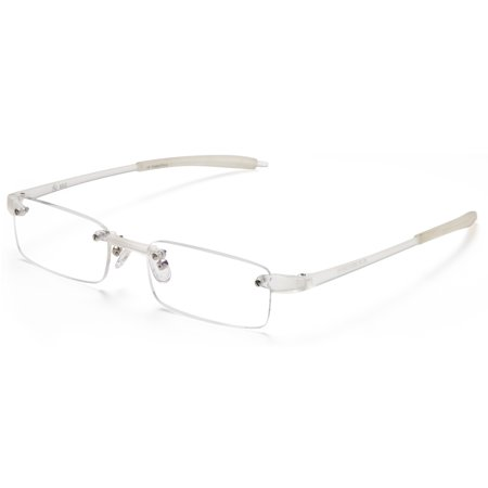 5ac494b6bf1b ALTEC VISION Best Rimless Readers Super Lightweight Reading Glasses for Men  and Women - 1.50x Magnification - Crystal - Walmart.com