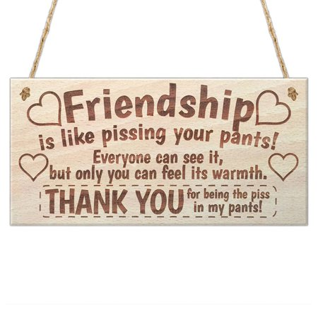 Wooden Hanging Gift Plaque Pendant Rectangle Shape Friendship Door Window Decor Pendant Tags LOVE Wood Chip