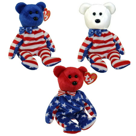 683913049b1 TY Beanie Babies - LIBERTY BEARS (Set of all 3 - Red
