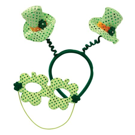 Pack of 24 St. Patrick's Day Leprechaun Hat Boppers with Mask Costume Accessories
