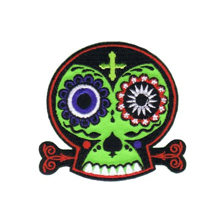 Chico Von Spoon Sugar Mama Patch Skull Voo Doo Death Embroidered IronOn Applique