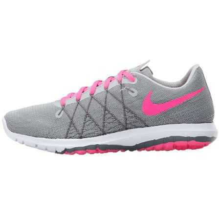 Nike Girls Flex Fury 2 Junior Running Shoes-Wolf Grey Hyper Pink -  Walmart.com a270cf942