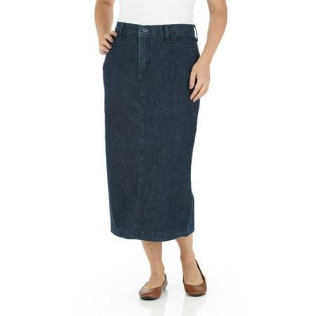 (Women's Long Stretch Twill Skirt)
