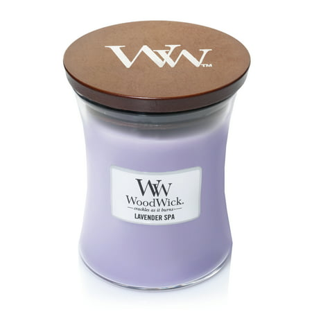 WoodWick Lavender Spa - Medium Hourglass Candle