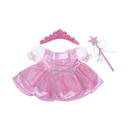 Dress Teddy Bear (Fairy Princess w/Wand & Tiara Dress Teddy Bear Clothes Fits Most 14