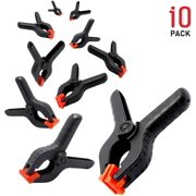 """LS Photography 10 Pack of Multipurpose 3.5"""" Heavy Duty Nylon Spring Clamps for Home Improvement, Arts & Crafts, WMT1099"""