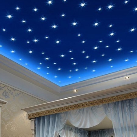 Micelec 76Pcs Luminous Stars Glow in the Dark Ceiling Wall Stickers Decals for Kids Room - Glow In The Dark Wall Decals
