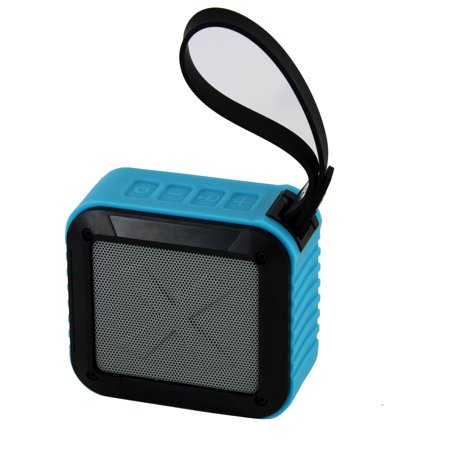 Image of AOB BT Hydracube Water Resistant Speaker with Rubber Handle, Blue