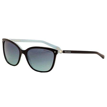 Tiffany TF4105HB 8193/9S Black/Striped Blue - Blue Gradient (Tiffany & Co Sunglass)