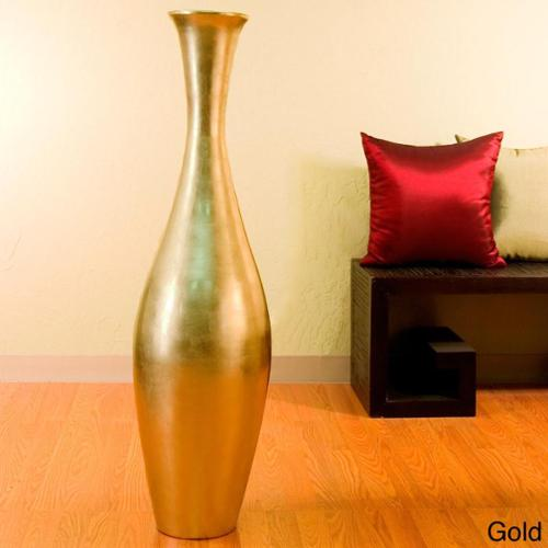 Egret 44-inch Tall Floor Vase and Natural Branches Red