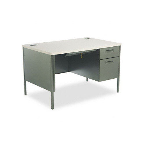 HON Metro Classic Series Computer Desk with Right Pedestal