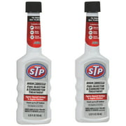 STP High Mileage Fuel Injector & Carburetor Treatment, 5.25 fl oz, 2 pack