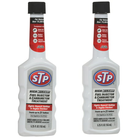STP High Mileage Fuel Injector & Carburetor Treatment, 5.25 fl oz, 2 (Best Fuel Injector Cleaner Reviews)