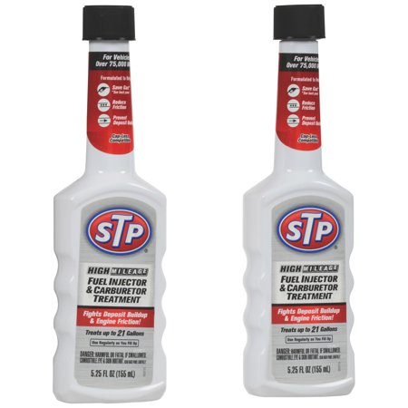 STP High Mileage Fuel Injector & Carburetor Treatment, 5.25 fl oz, 2 pack - Fuel Injector Cleaning