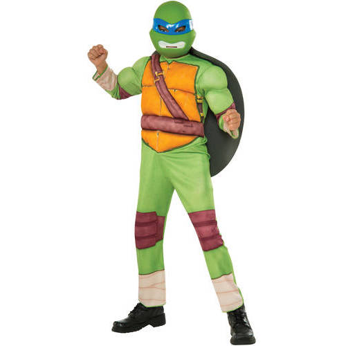 "Teenage Mutant Ninja Turtle ""Leonardo"" Child Deluxe Muscle Chest Halloween Costume"