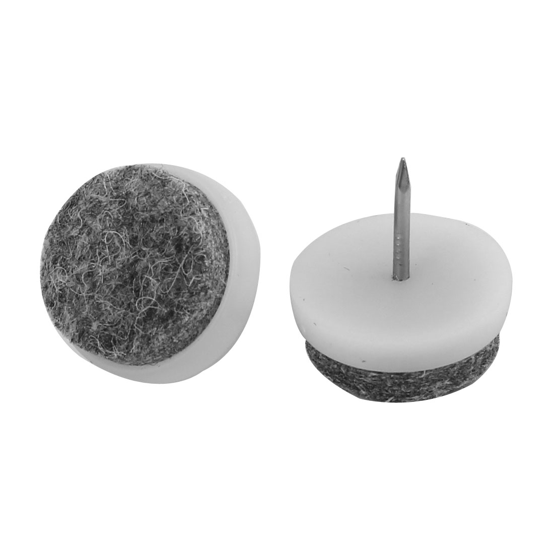 Furniture Table Couch Legs Nail On Pad Skid Felt Floor Protectors 22mm Dia 20pcs - image 1 de 2