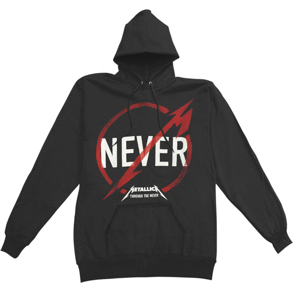 Metallica Men's  Through The Never Hooded Sweatshirt Black