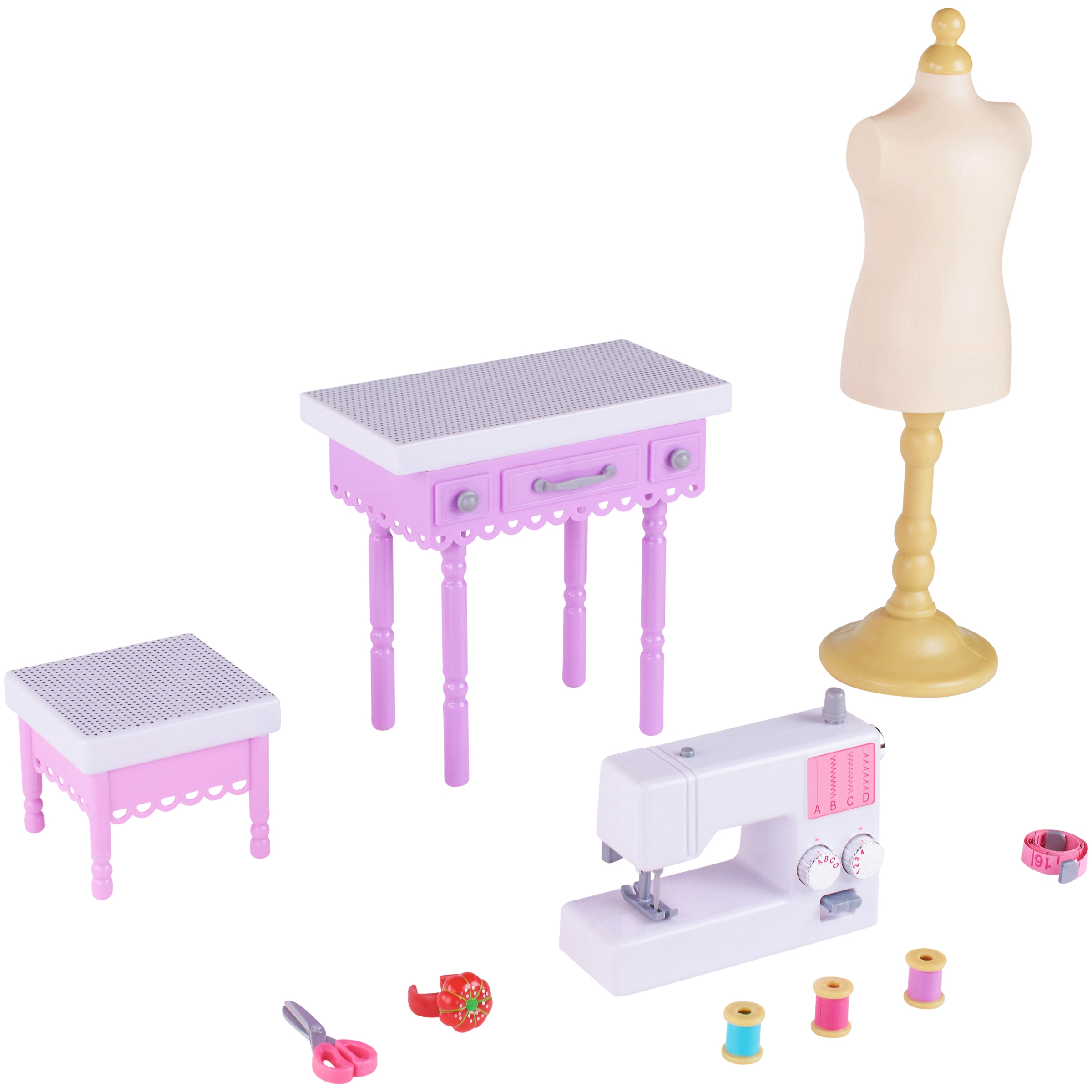 My life as 11-piece fashion designer play set, designed for ages 5 and up