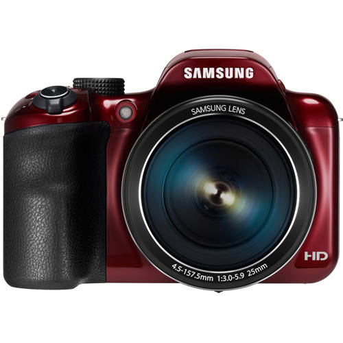 Samsung SMART Camera WB1100F - Digital camera - High Definition - compact - 16.2 MP - 35 x optical zoom - Wi-Fi - red