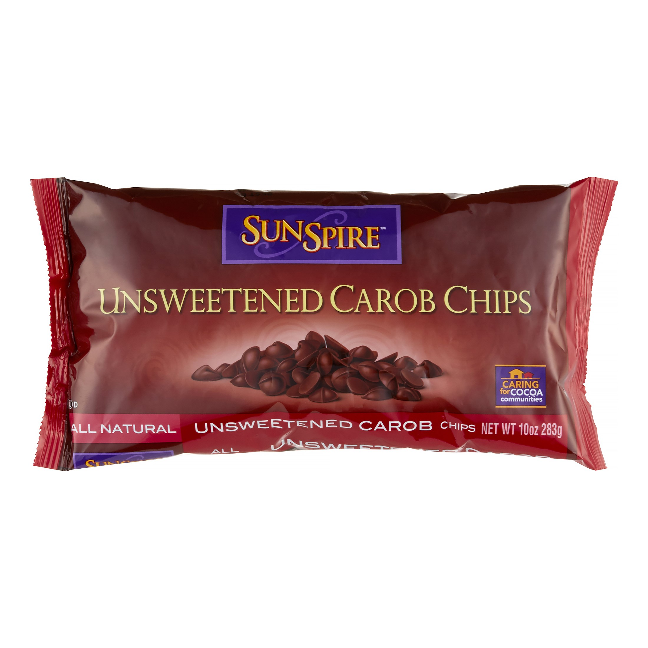 SunSpire Unsweetened Carob Baking Chips 10 oz by Hain Celestial