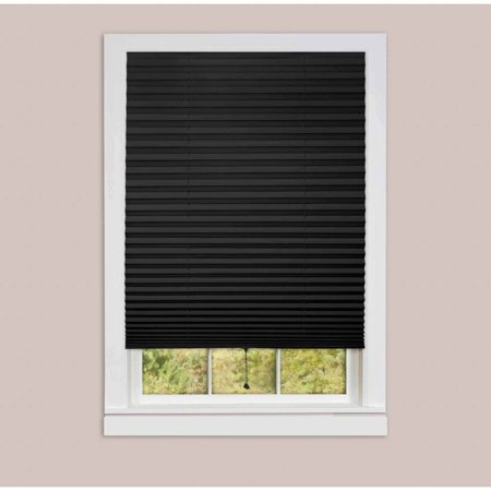 1 2 3 Vinyl Room Darkening Temporary Pleated Window Shade