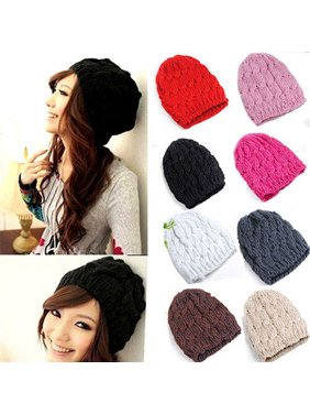 71e88d9a373 Product Image HiCoup Women Winter Fashion Cable Knit Crochet Hat Solid  Color Warm Baggy Beanie Cap