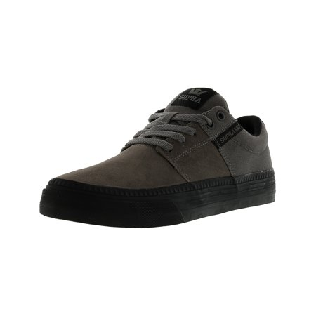 2cb1312bd50e Supra Men s Stacks Ii Vulc Hf Black   Ankle-High Canvas Skateboarding Shoe  - 8M ...