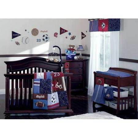 NoJo Play Ball 9 Piece Crib Bedding Set (Sport Bedding Crib)