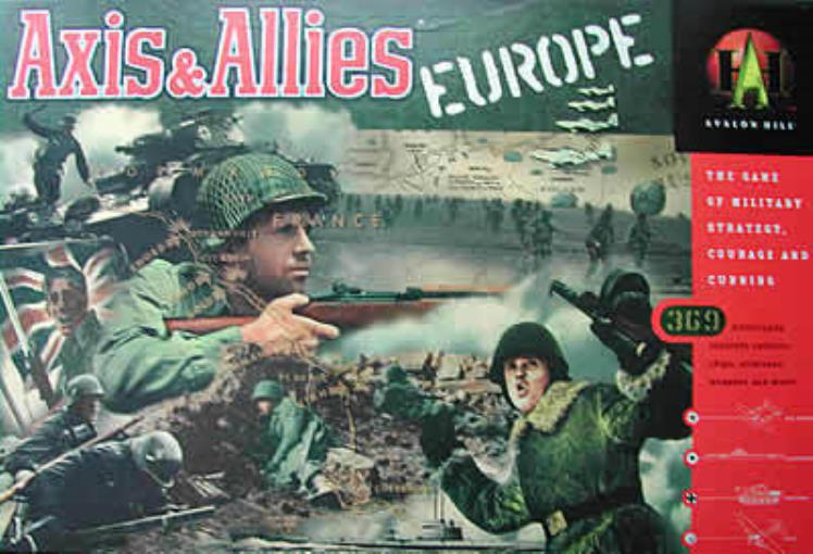 Axis & Allies Europe VG+ NM by Avalon Hill