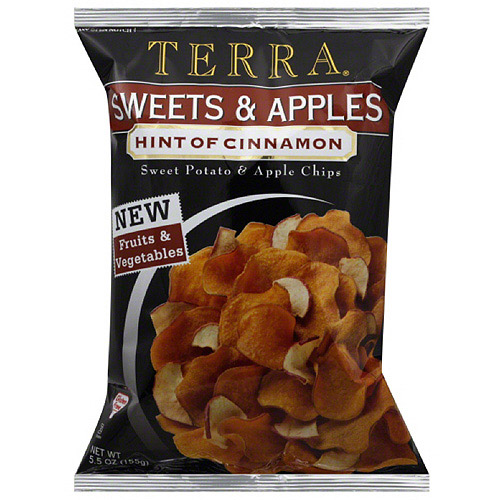 Terra Chips Sweets & Apples Hint of Cinnamon Sweet Potato & Apple Chips, 5.5 oz, (Pack of 12)
