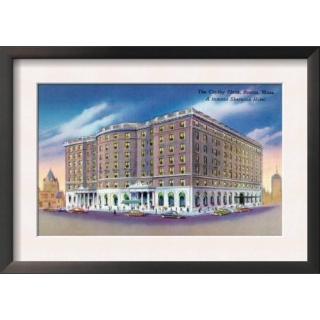 Boston, Massachusetts - Exterior View of Sheraton Hotel in ... Framed Art Print Wall Art (The W Hotel Boston Halloween)
