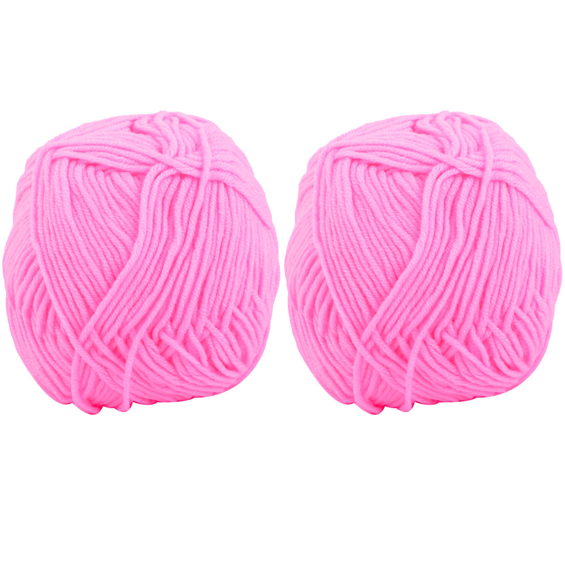 Gift DIY Handmade Scarf Shawl Sweater Knitting Weaving Yarn Dark Pink 110g 2pcs