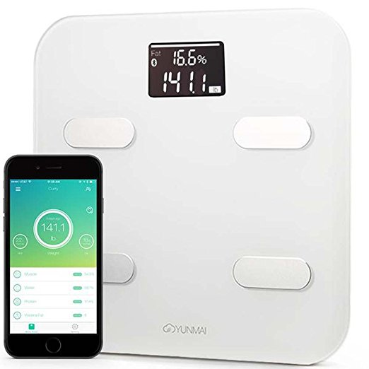 Yunmai Color Smart Scale - Body Fat Scale with new FREE APP & Body Composition Monitor with Extra Large Display