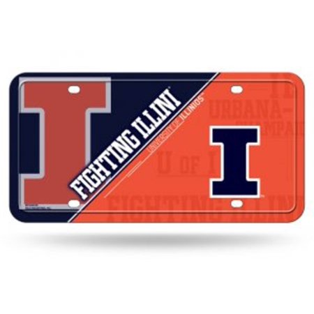 Illinois Fighting Illini Metal License - Illinois Fighting Illini License Plate