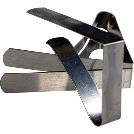 Coleman Stainless Steel Tablecloth Clamps 6-Pk - Tablecloth Clips