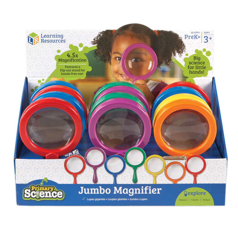 Learning Resources Primary Science Jumbo Magnifiers, Set of 12