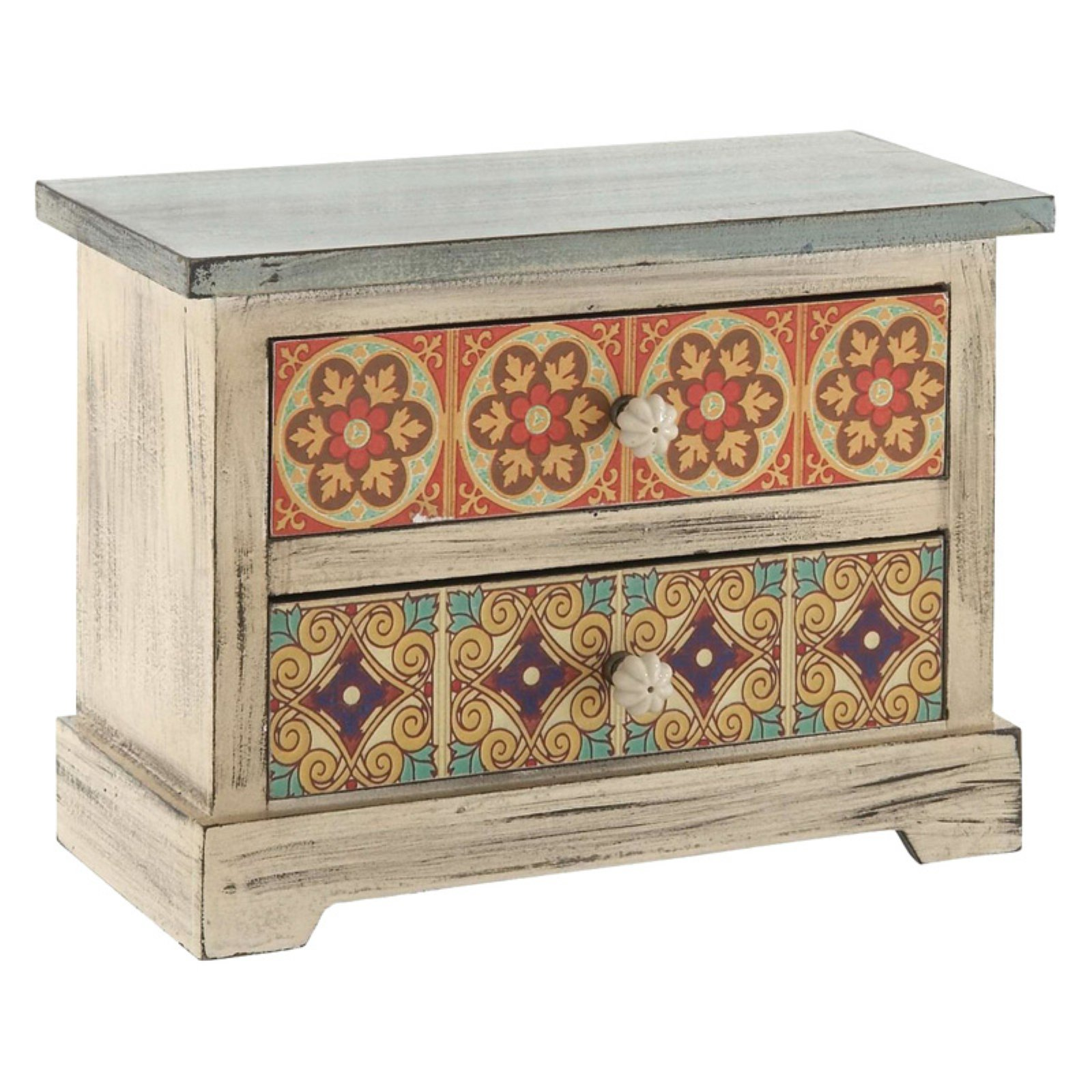 DecMode 10x14'' Wood Accent Jewelry Tabletop Chest