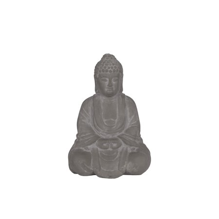 Urban Trends Collection: Ceramic Buddha BowlWashed Washed Concrete Finish Gray