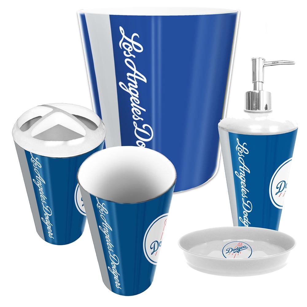 Los Angeles Dodgers Mlb Complete Bathroom Accessories Set