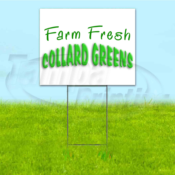 Collard Greens Yard Sign /& Stake outdoor plastic coroplast window