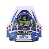Disney Pixar Toy Story 4 Shaped Buzz Lightyear Tin With 48-Piece Surprise Puzzle
