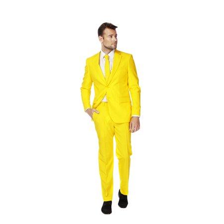 Suitmeister Men's Solid Yellow Solid Suit (Breaking Bad Yellow Suit Halloween)